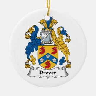 Escudo de la familia de Drever Adorno Redondo De Cerámica