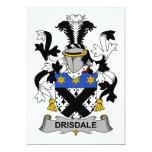 Escudo de la familia de Drisdale Invitación 12,7 X 17,8 Cm