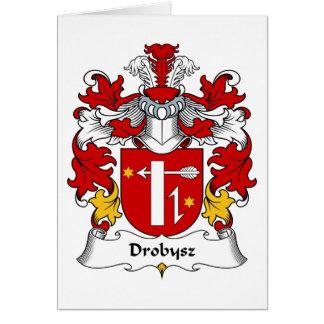 Escudo de la familia de Drobysz Tarjeta De Felicitación