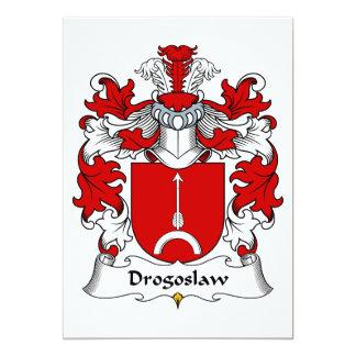 Escudo de la familia de Drogoslaw Invitacion Personal