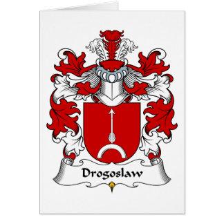 Escudo de la familia de Drogoslaw Tarjeta De Felicitación