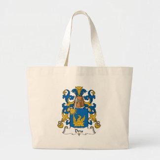 Escudo de la familia de Dru Bolsas Lienzo
