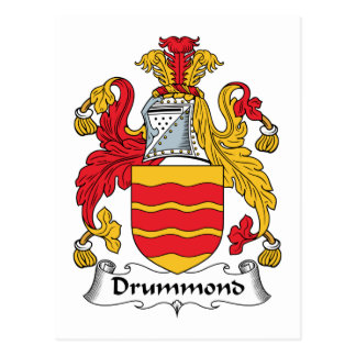 Escudo de la familia de Drummond Tarjeta Postal