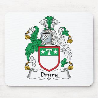 Escudo de la familia de Drury Alfombrilla De Ratón