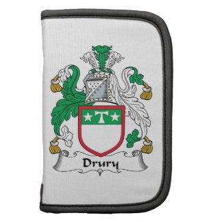 Escudo de la familia de Drury Planificador