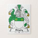 Escudo de la familia de Drury Rompecabezas