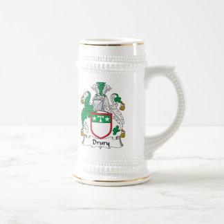 Escudo de la familia de Drury Jarra De Cerveza