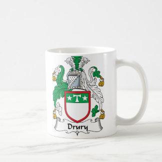 Escudo de la familia de Drury Taza De Café