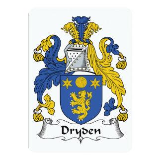 """Escudo de la familia de Dryden Invitación 5"""" X 7"""""""
