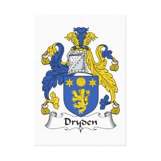 Escudo de la familia de Dryden Lona Envuelta Para Galerías