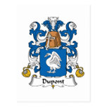 Escudo de la familia de Du Pont Tarjetas Postales