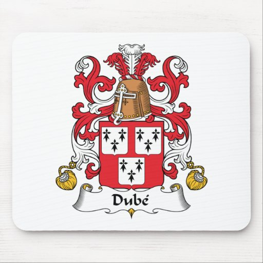 Escudo de la familia de Dube Tapetes De Raton