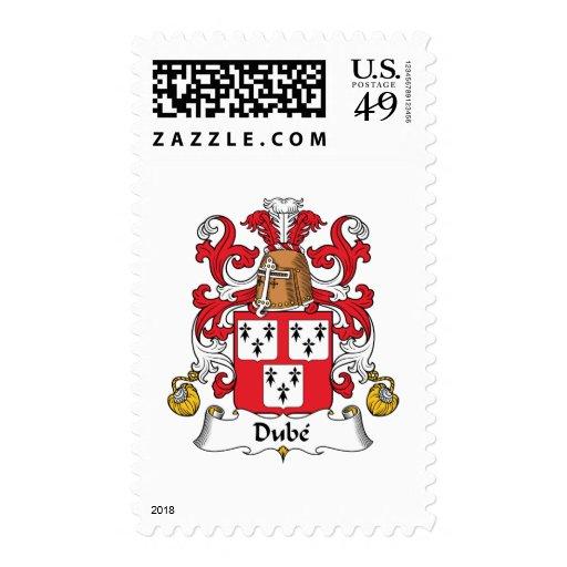 Escudo de la familia de Dube Timbre Postal