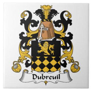 Escudo de la familia de Dubreuil Azulejo