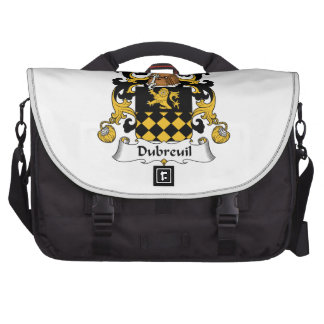 Escudo de la familia de Dubreuil Bolsa De Ordenador