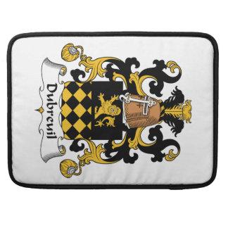 Escudo de la familia de Dubreuil Funda Para Macbooks