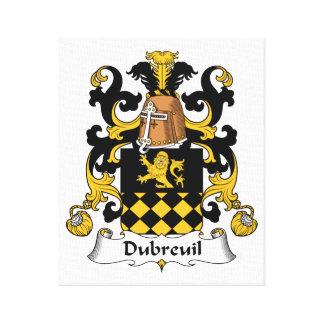 Escudo de la familia de Dubreuil Impresiones En Lienzo Estiradas