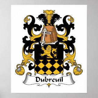 Escudo de la familia de Dubreuil Poster