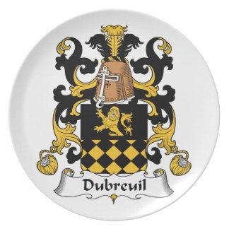 Escudo de la familia de Dubreuil Platos De Comidas