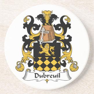 Escudo de la familia de Dubreuil Posavasos Cerveza