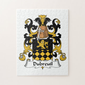 Escudo de la familia de Dubreuil Rompecabeza Con Fotos