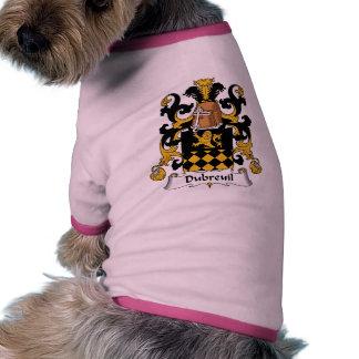 Escudo de la familia de Dubreuil Ropa Para Mascota