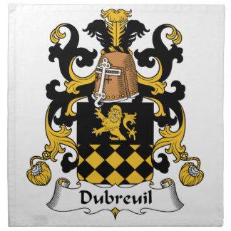 Escudo de la familia de Dubreuil Servilleta Imprimida