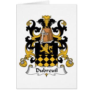 Escudo de la familia de Dubreuil Felicitacion