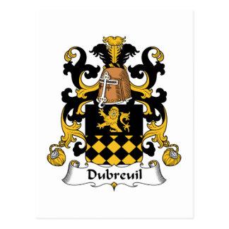 Escudo de la familia de Dubreuil Tarjetas Postales