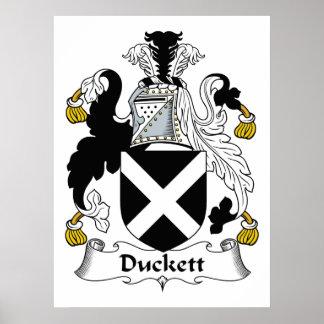 Escudo de la familia de Duckett Impresiones
