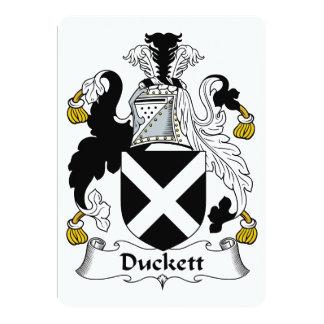 """Escudo de la familia de Duckett Invitación 5"""" X 7"""""""