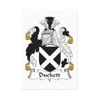 Escudo de la familia de Duckett Impresiones De Lienzo