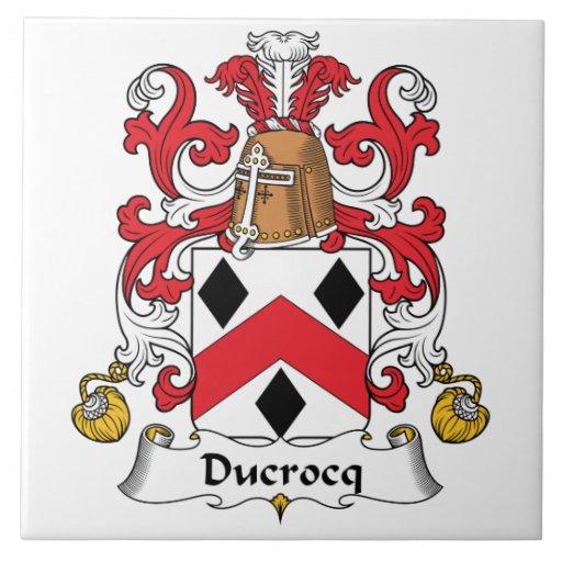 Escudo de la familia de Ducrocq Azulejo Ceramica