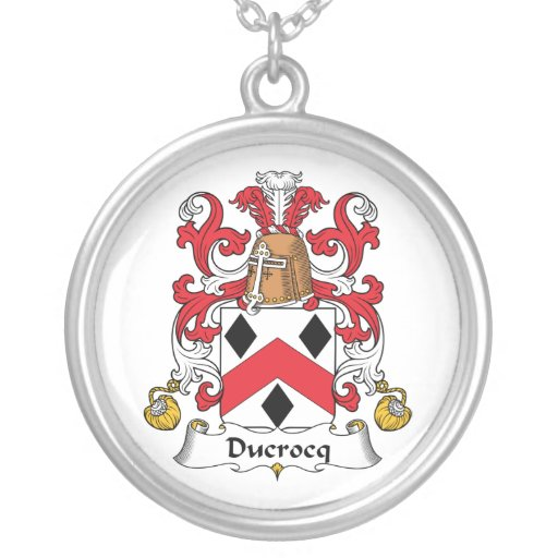 Escudo de la familia de Ducrocq Collares Personalizados