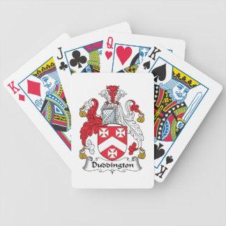 Escudo de la familia de Duddington Barajas De Cartas