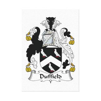 Escudo de la familia de Duffield Impresiones En Lona Estiradas