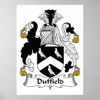 Escudo de la familia de Duffield Poster