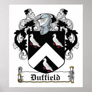 Escudo de la familia de Duffield Póster