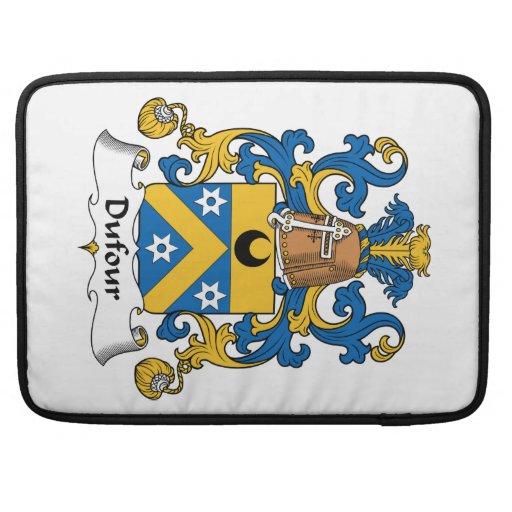 Escudo de la familia de Dufour Funda Macbook Pro