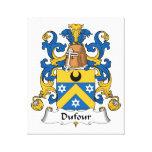 Escudo de la familia de Dufour Lona Estirada Galerias