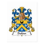Escudo de la familia de Dufour Tarjetas Postales