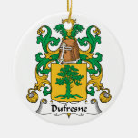 Escudo de la familia de Dufresne Ornamento Para Arbol De Navidad