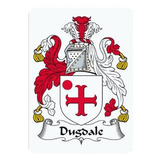 """Escudo de la familia de Dugdale Invitación 5"""" X 7"""""""