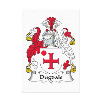 Escudo de la familia de Dugdale Impresiones En Lona Estiradas