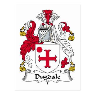 Escudo de la familia de Dugdale Postal