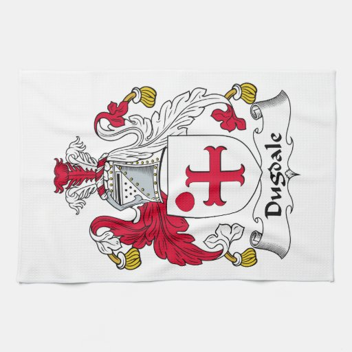 Escudo de la familia de Dugdale Toalla De Mano