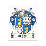 Escudo de la familia de Duggan Lona Envuelta Para Galerias