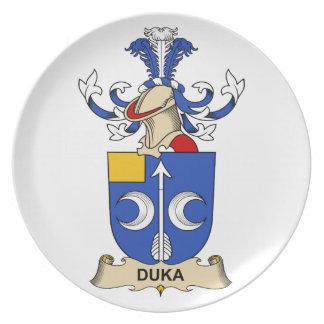 Escudo de la familia de Duka Plato De Cena