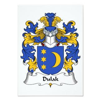 """Escudo de la familia de Dulak Invitación 5"""" X 7"""""""