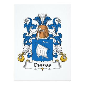 """Escudo de la familia de Dumas Invitación 6.5"""" X 8.75"""""""